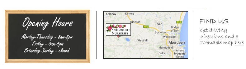 Springhill Nurseries Opening Hours
